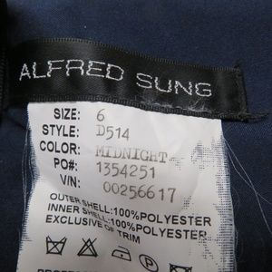 ALFRED SUNG Dresses - Alfred Sung Gown Dress Sz 6 Strapless Sateen Blue